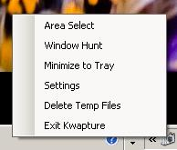 Kwapture Mode Menu